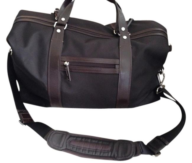 Item - Black Nylon with Brown Leather Weekend/Travel Bag