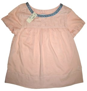American Eagle Outfitters Embroiderd Top Light Pink