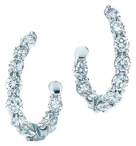 Tiffany & Co. Tiffany Inside-Out Platinum and Diamond Hoop Earrings