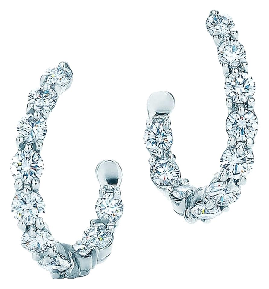 Tiffany Co Inside Out Platinum And Diamond Hoop Earrings