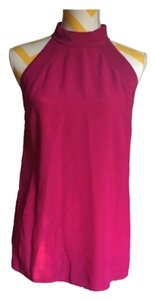 Gucci Pink Fuchsia Purple Silk Top Magenta