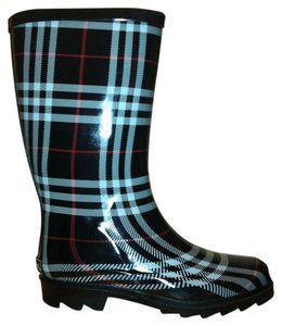 Aqua Stop Black Plaid Boots