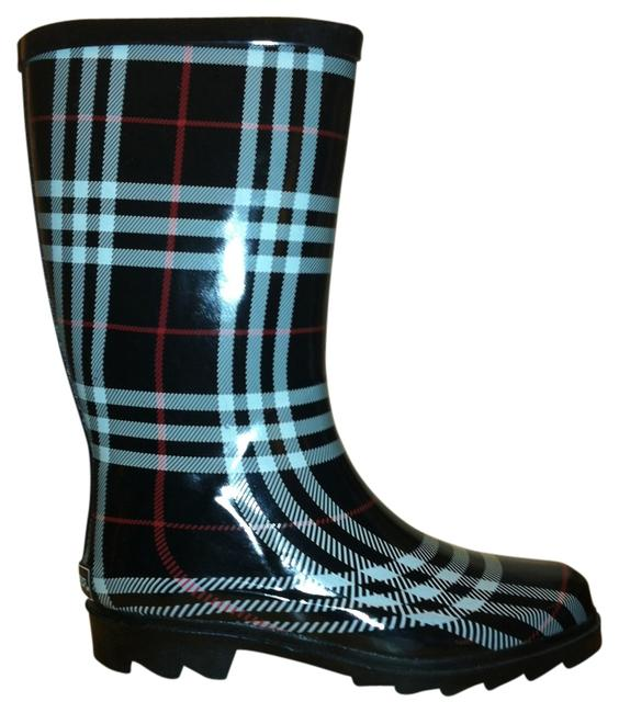 Item - Black Plaid Reserved - Rain Boots/Booties Size US 7