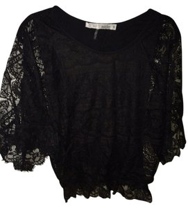 Nally & Millie Top Black Lace
