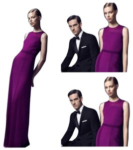 Hugo Boss Dabina Silktrim Purple Dress