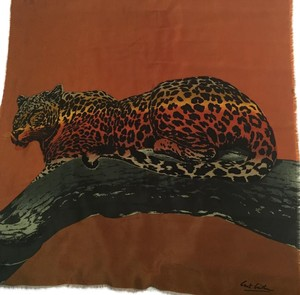 Baar & Beards Silk Leopard Animal Scarf