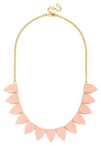 BaubleBar Peach and Gold Tab Strand Necklace