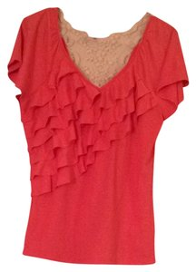 Maurices T Shirt Pinkish-red