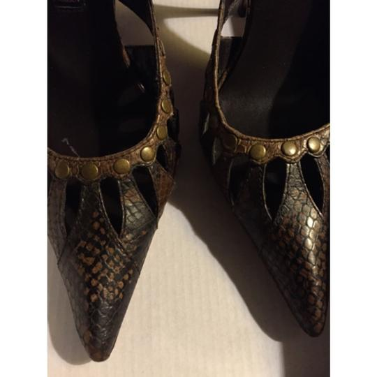 Steven by Steve Madden SnakeSkin Brown Black Pumps Image 1