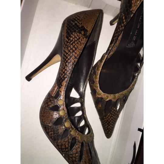 Steven by Steve Madden SnakeSkin Brown Black Pumps Image 2