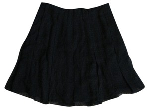 Club Monaco Swiss Dot Skirt Black