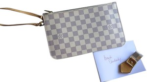 Louis Vuitton Louis Vuitton Pouchette Wristlet in Damier Azur MM GM S Date code SD3154 Made in the USA