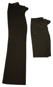 Express Trouser Pants Black, Pinstriped and Brown