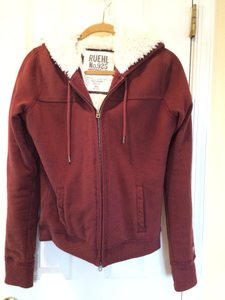 Ruehl No. 925 Zip Up Fur-lined Super Cozy And Soft Sweatshirt