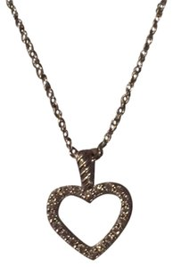 David Yurman Cable Collectibles Heart Pendant Necklace with Diamonds in White Gold
