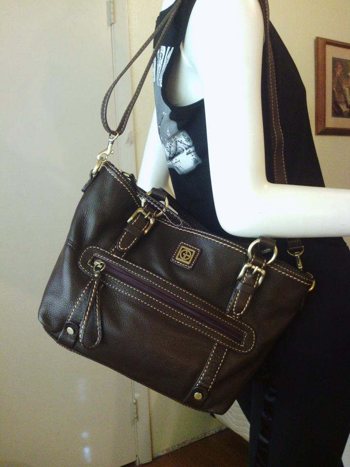 Giani Bernini Giani Bernini Brown Soft Pebble Leather Tote
