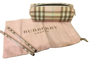 Burberry Burberry Pink Candy Check Cosmetic Bag/ Pencil Case - NWOT