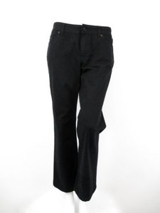 Chico's Platinum Black Stretch Short Boot Cut Jeans