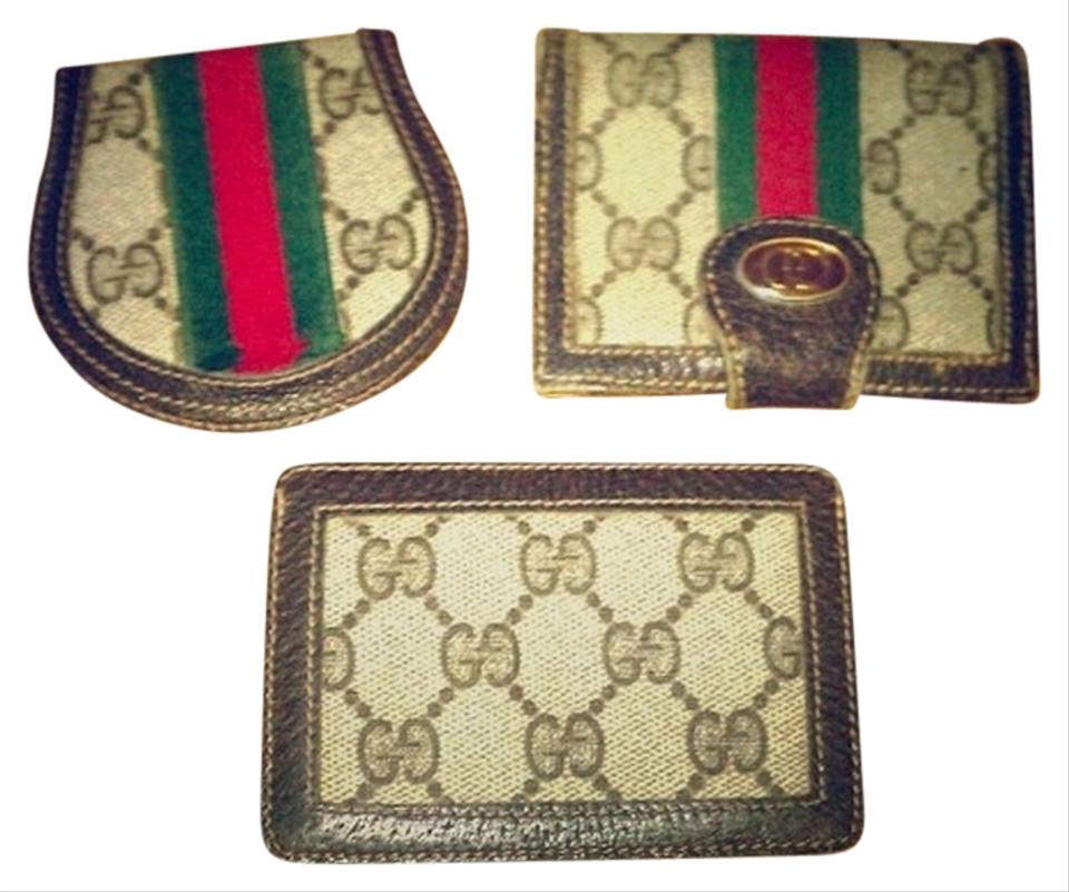 Gucci Brown Red Green Tan Wallet 86 Off Gucci