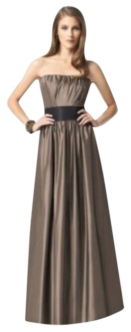 Item - Brown 2837 Long Night Out Dress Size 8 (M)