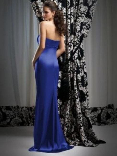 Dessy Full Length Strapless Dress