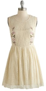 Modcloth short dress Cream, Ivory Lace Cream Country on Tradesy