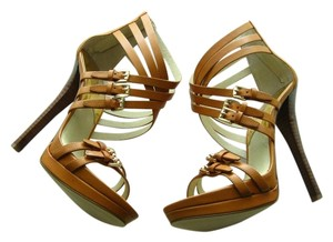 Michael Kors Leather Strap brown Sandals