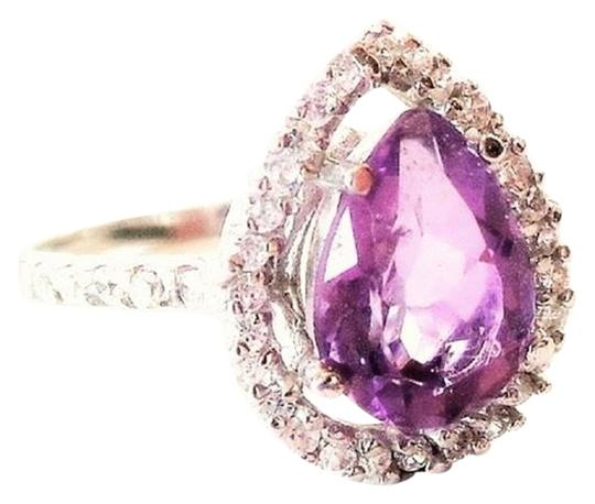 Preload https://img-static.tradesy.com/item/7339111/purple-pear-faceted-200-genuine-natural-amethyst-and-zircon-cocktail-7-ring-0-12-540-540.jpg