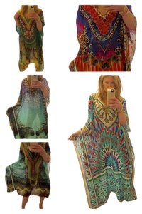 Multi Maxi Dress by Camilla (like) Kaftan Caftan 100% Silk
