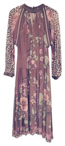 Roberto Cavalli short dress Pink/taupe/animal print on Tradesy