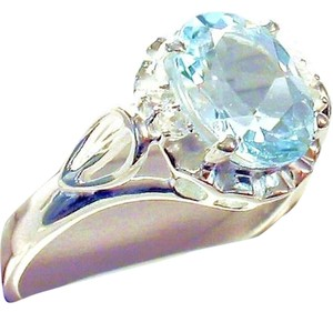 Other 2.15 CTW Genuine Sky Blue Topaz 925 Sterling Silver Ring Size 7