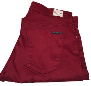 Hudson Jeans Skinny Pants Dark Red