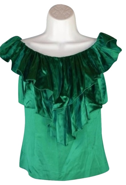 Preload https://img-static.tradesy.com/item/733982/marc-bouwer-green-night-out-top-size-2-xs-0-0-650-650.jpg