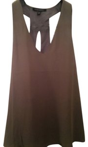 Banana Republic Silk Crisscross Strap Drapey Top Olive