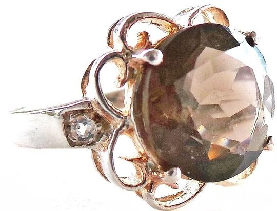 Other 5.50ctw Genuine Smokety Topaz 925 Sterling Silver Ring Size 7