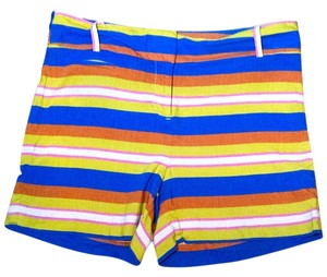 Ann Taylor LOFT Size 4 P1759 Mini/Short Shorts green, orange, pink, blue