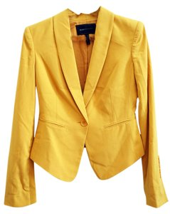 BCBGMAXAZRIA Tuxedo Jacket Suiting Yellow (Golden) Blazer