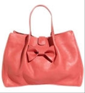 RED Valentino Playful Bow Leather Spacious Tote in Pink
