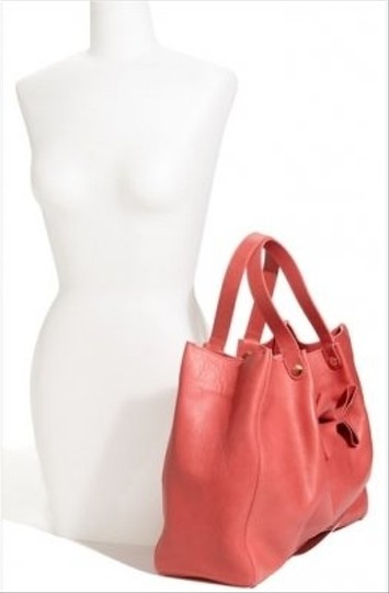 RED Valentino Playful Bow Leather Spacious Tote in Pink Image 1