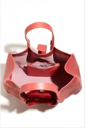 RED Valentino Playful Bow Leather Spacious Tote in Pink Image 2