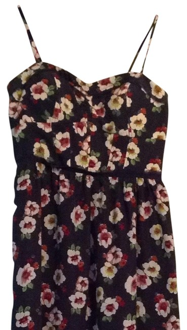 American Eagle Outfitters short dress Dark Gray/ Floral on Tradesy