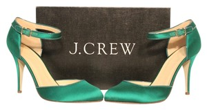 J.Crew Heel Ankle Strap Jade Green Pumps