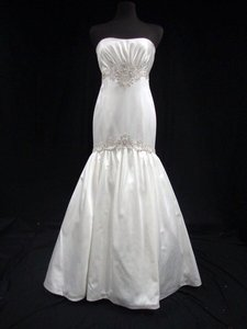 KENNETH POOL Silk Satin Mermaid Wedding Dress