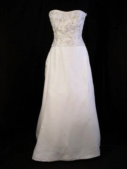 "Lazaro Ivory Silk Organza ""3312"" Wedding Dress Size 8 (M)"