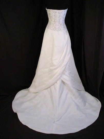 "Lazaro Ivory Silk Organza ""3312"" Dress Size 8 (M)"