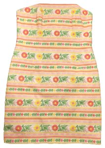 Lilly Pulitzer short dress Multicolored Embroidered Strapless Fitted on Tradesy
