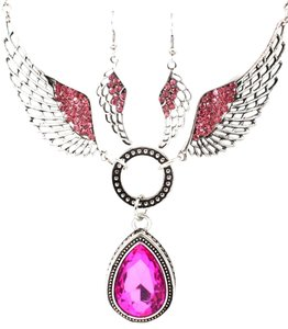 Other pink angel wing set