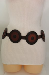 Gap Gap Women Fashion Tie Belt Brown Leather Big Hip High Waist Plus