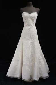 Liancarlo Alencon Lace Trumpet Wedding Dress