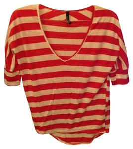 Molli And Mia T Shirt Red and White Stripes